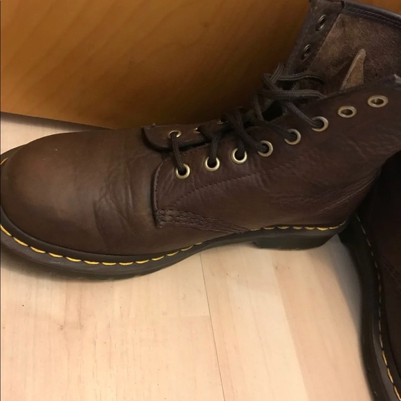 brown soft leather doc martens